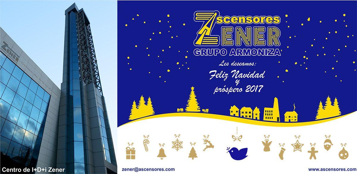Ascensores Zener Grupo Armoniza les desea felices fiestas
