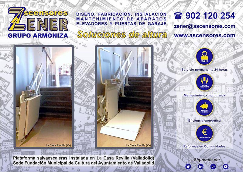 Salvaescaleras instalado en La Casa Revilla (Valladolid)