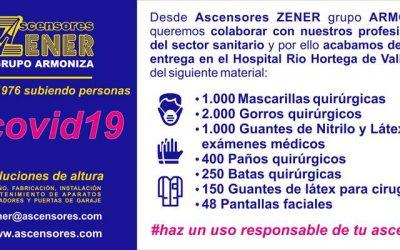 (COVID-19) Entrega de material sanitario en el Hospital Rio Hortega de Valladolid