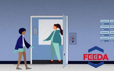 (VIDEO) Cómo usar el ascensor y las escaleras mecánicas de forma segura ante el COVID-19