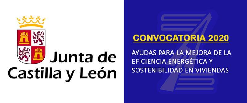 Subvenciones mejora de la eficiencia energetica y sostenibilidad Junta de Castilla y León (2020)